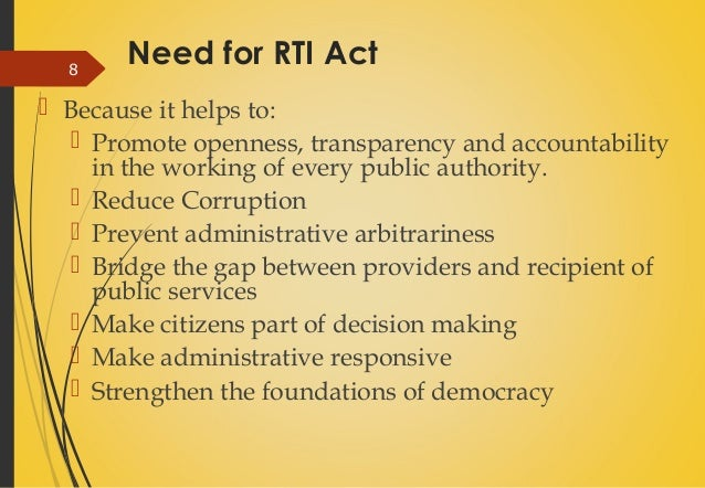 rti act the discouraging factor so that you can data corruption essay for english