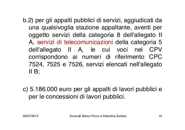 b.2) per gli appalti pubblici di servizi, aggiudicati da una qualsivoglia stazione appaltante, aventi per oggetto servizi ...