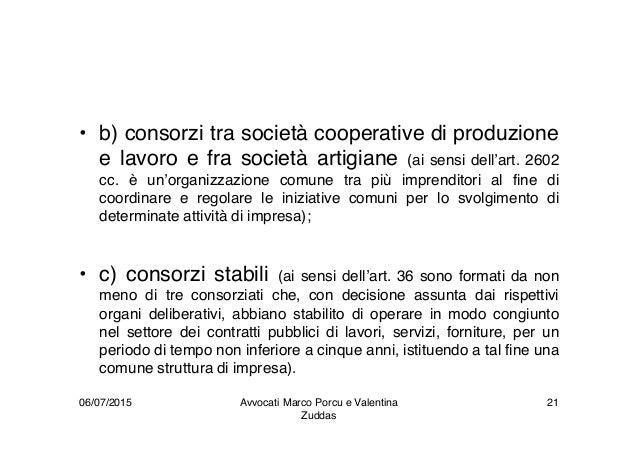 • b) consorzi tra società cooperative di produzione e lavoro e fra società artigiane (ai sensi dell'art. 2602 cc. è un'org...