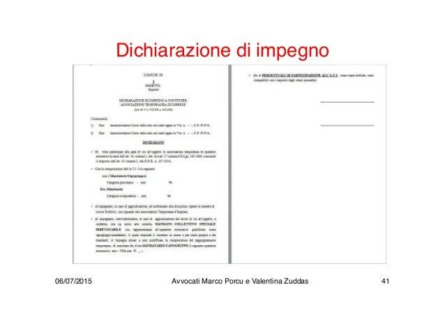 Dichiarazione di impegno 06/07/2015 Avvocati Marco Porcu e Valentina Zuddas 41