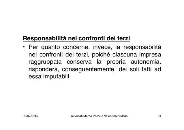 Responsabilità nei confronti dei terzi • Per quanto concerne, invece, la responsabilità nei confronti dei terzi, poiché ci...