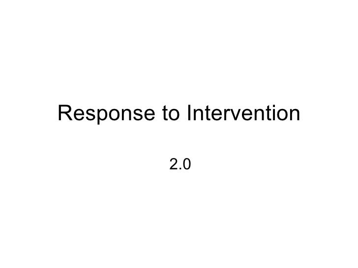 Response to Intervention 2.0