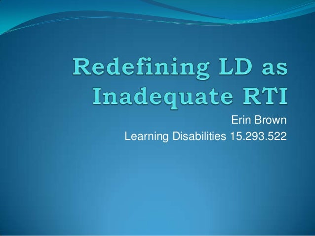 Erin BrownLearning Disabilities 15.293.522