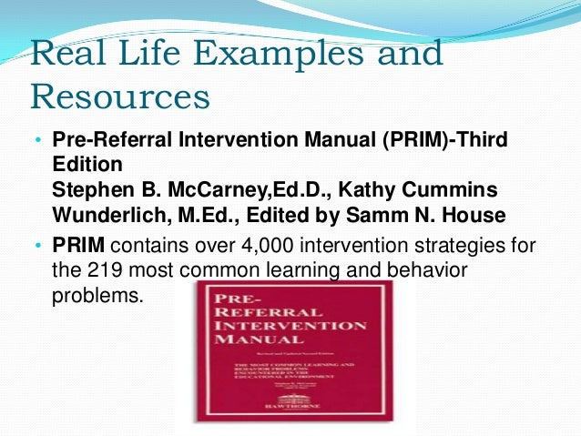 pre referral intervention manual online