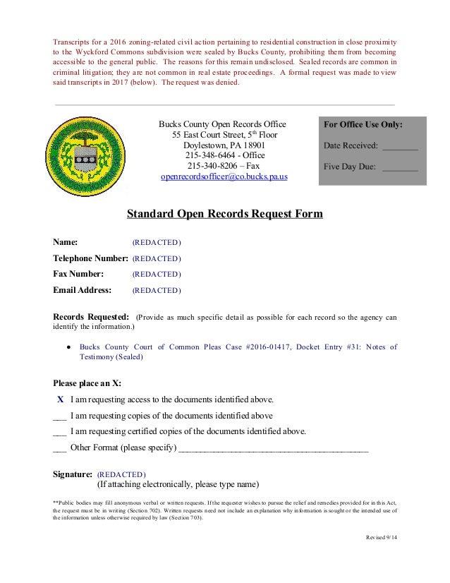 bucks county pa divorce records