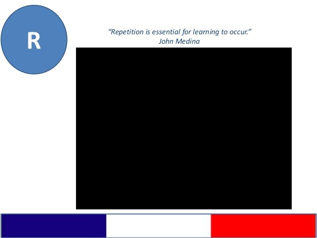 """""""Repetition is essential for learning to occur.""""R                    John Medina"""