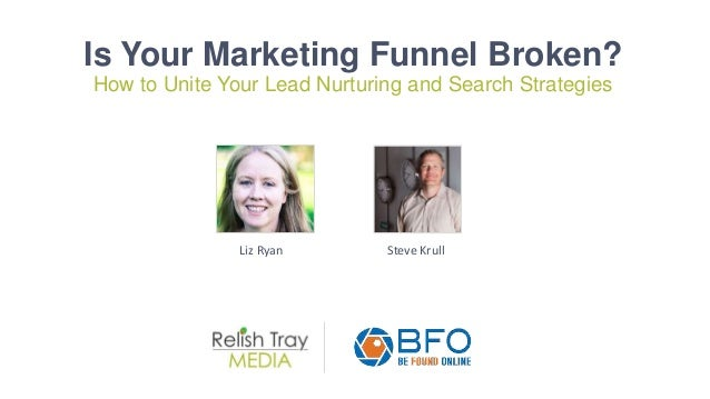 Is Your Marketing Funnel Broken? How to Unite Your Lead Nurturing and Search Strategies Liz Ryan Steve Krull