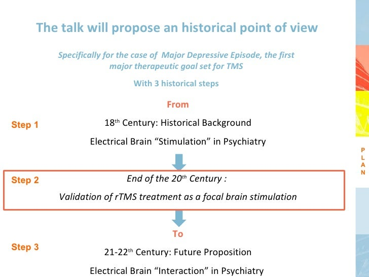 The talk will propose an historical point of view         Specifically for the case of Major Depressive Episode, the first...