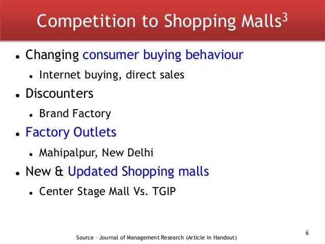 analysis of consumer behavior in a food court at a shopping mall Literature review 21 introduction  the study found that retail consumer shopping behaviour and customer  retail purchase behavior in food and grocery in.