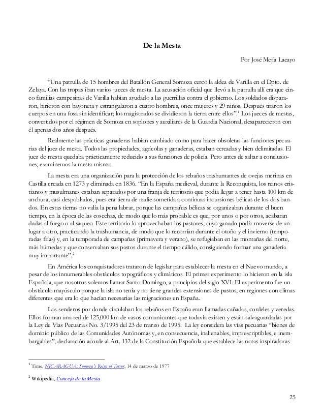 """25 De la Mesta Por José Mejía Lacayo """"Una patrulla de 15 hombres del Batallón General Somoza cercó la aldea de Varilla en ..."""