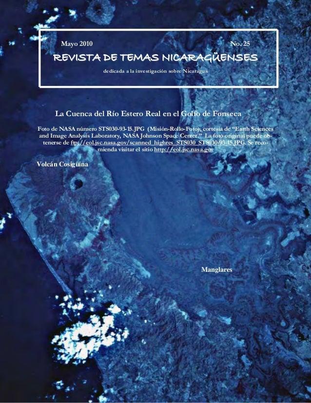 i Mayo 2010 No. 25 RREEVVIISSTTAA DDEE TTEEMMAASS NNIICCAARRAAGGÜÜEENNSSEESS dedicada a la investigación sobre Nicaragua L...