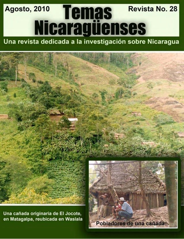 Las cañadas de Matagalpa La ilustración de la portada es una foto contemporánea de cañada de Matagalpa, cortesía del Dr. M...