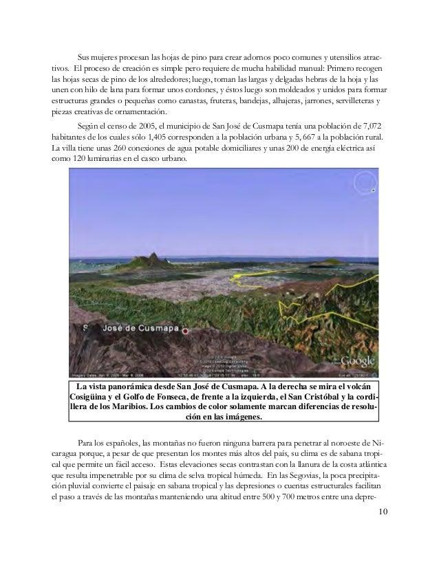 11 e- r- n española en Las Segovias, conquistando y colo- nizando o de las minas de oro situadas a 35 leguas de la ciudad ...