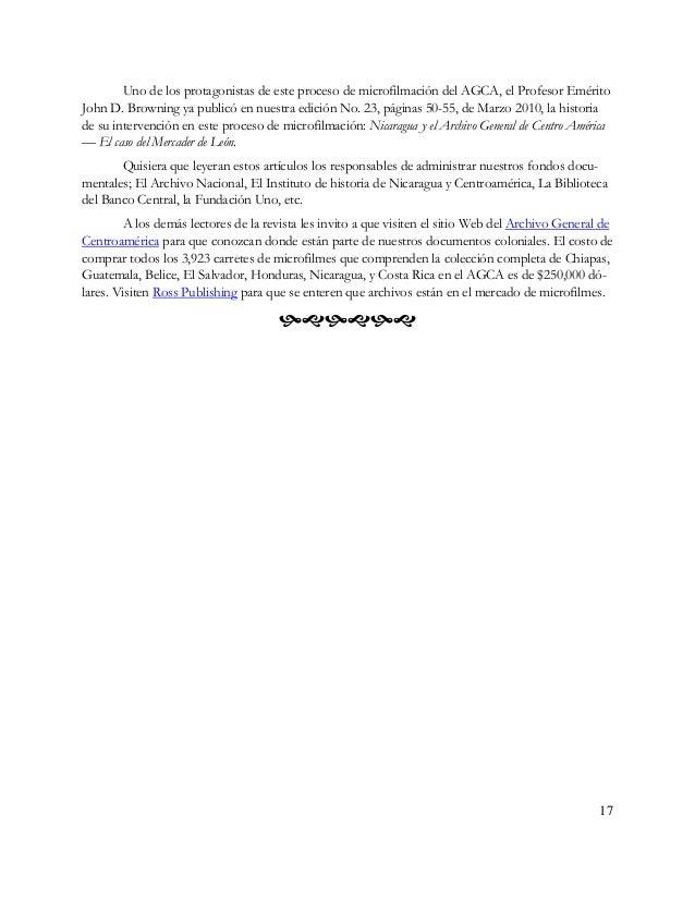 18 La microfilmación Por Ana Alejandra Alemán Aguirre* El debate acerca de la microfilmación y digitalización como métodos...