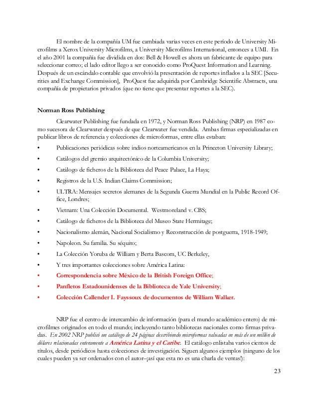 • Los archivos Gibbs, relacionados a las actividades de negocios de la firma británica en Pe- rú, Chile, Bolivia, Brasil y...