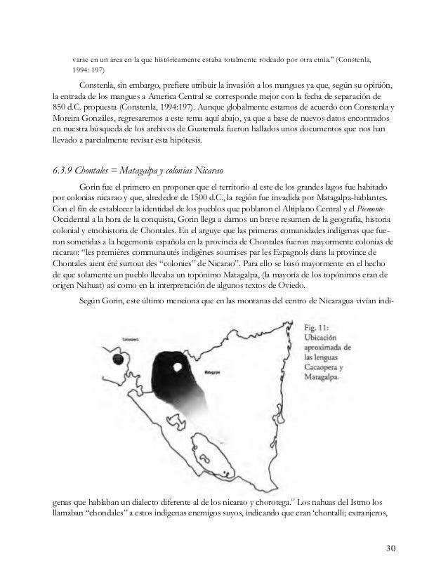 gente que hablan mal' v en lengua Nahuat (chontalli). Los chorotega y los nicarao cuentan de sus enemigos, los chondales q...