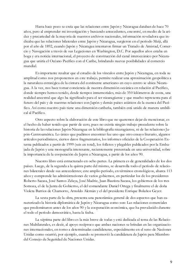 10 La octava y última parte de la obra está dedicada exclusivamente a los eventos conmemo- rativos de las relaciones entre...