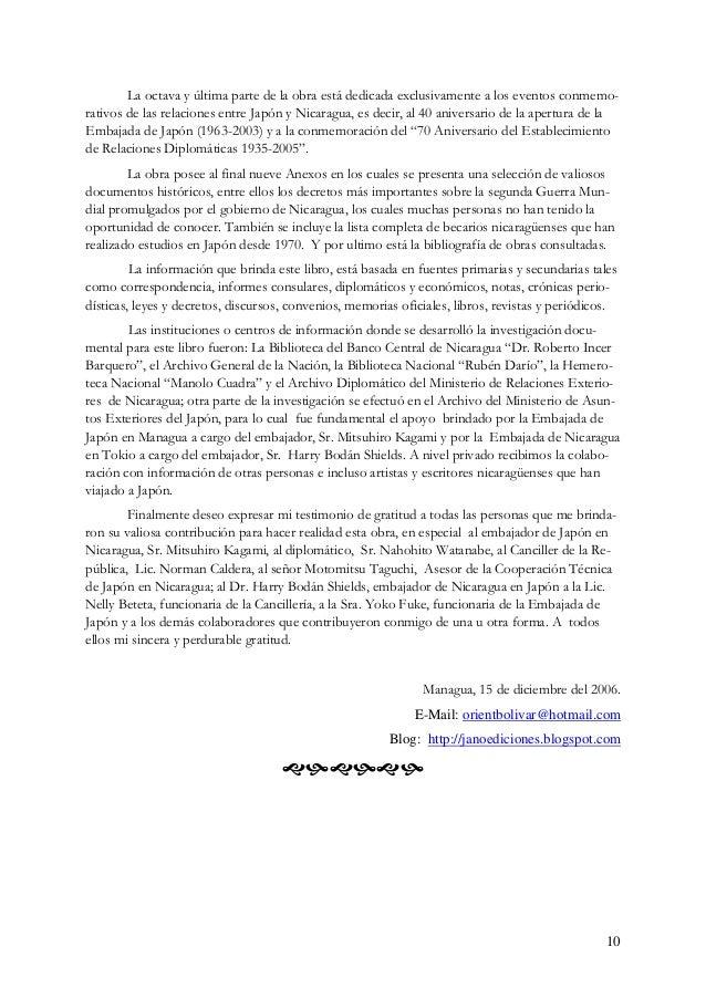 Japón y Nicaragua: Una Obra Excepcional de la Bibliografía Nicaragüense 1 por Carlos Tünnermann Bernheim Me honra particip...
