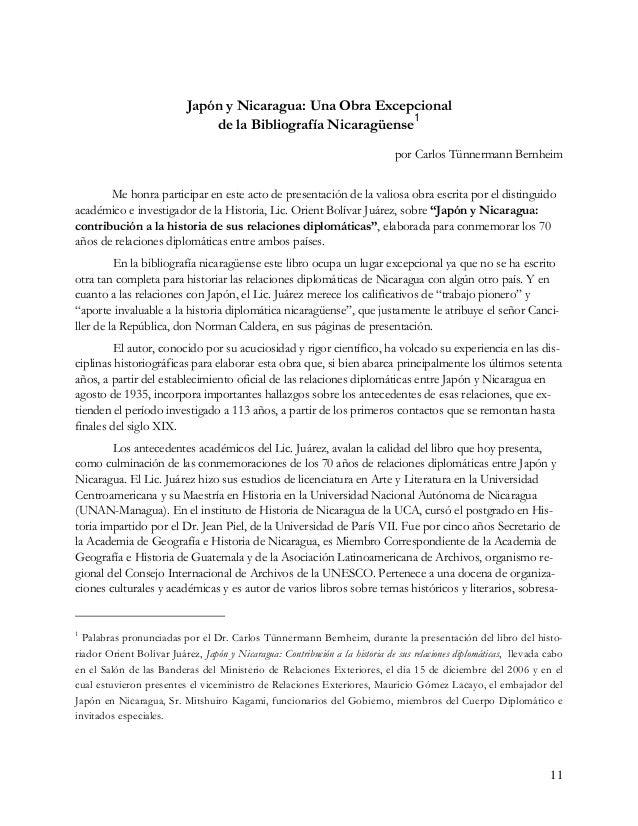 liendo sus libros sobre los Presidentes José Santos Zelaya y José Madriz, la biografía del fundador del Museo Nacional, Di...