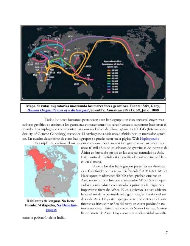 8 Este marcador genético M130 es muy común entre los aborígenes de Australia y los Na De- ne del noroeste del Pacífico de ...