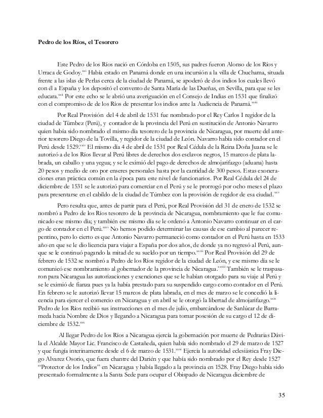 36 1530.xxxii En el mes de abril de 1533 el tesorero de los Ríos ya informaba al Consejo de Indias de la toma de cuentas a...