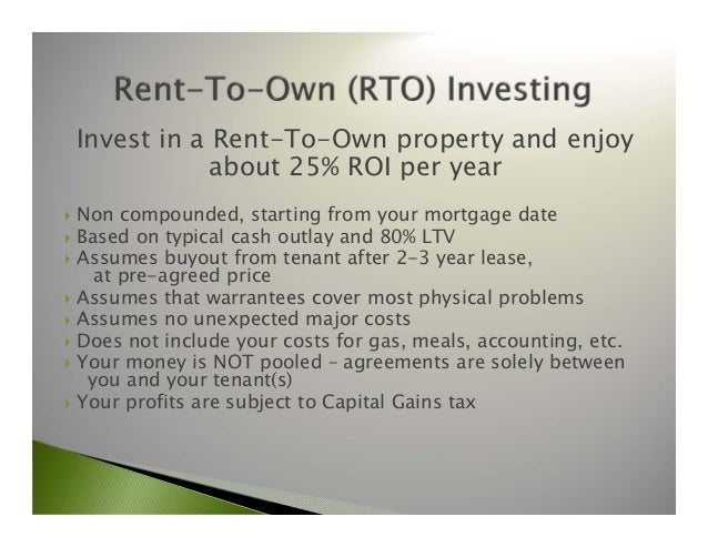 Rto Partners Rent-To-Own Investing Information