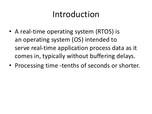 How to choose an RTOS? Slide 2