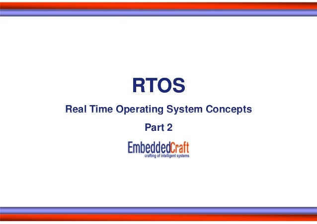 RTOSReal Time Operating System Concepts              Part 2