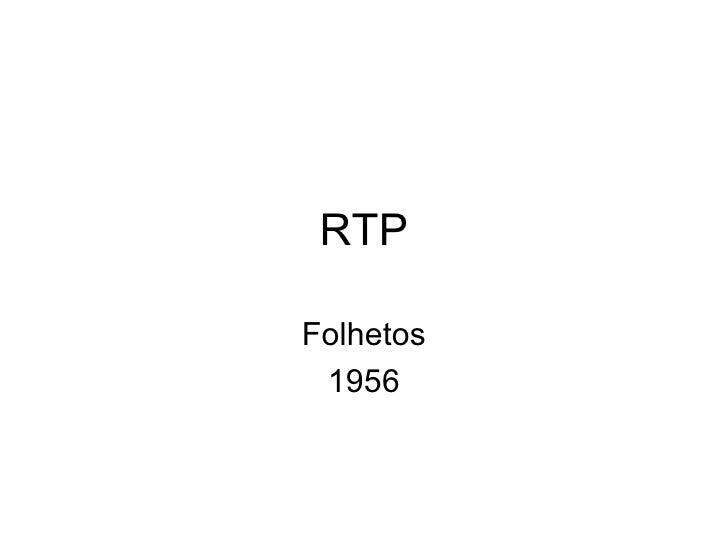 RTP Folhetos 1956