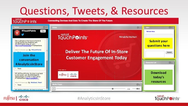 #AnalyticsInStore Questions,Tweets,&Resources Submityour questionshere Download today's resources Jointhe conv...