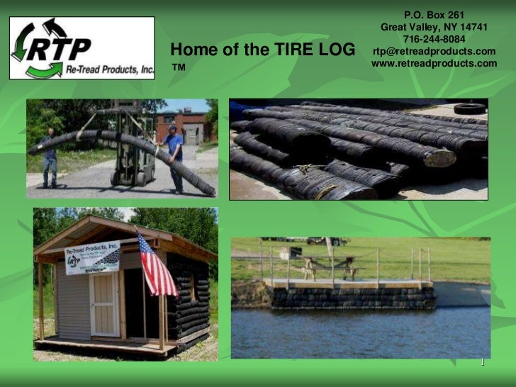 New Green Roofing Materials : Tire log new green building material