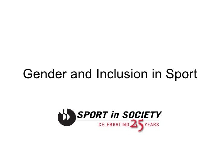 Gender and Inclusion in Sport