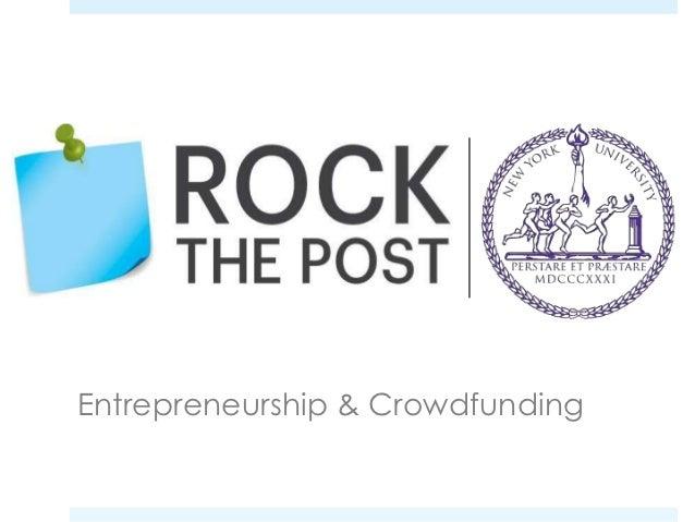 Entrepreneurship & Crowdfunding