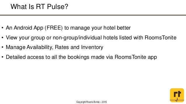 RT Pulse: An Android app for Hoteliers