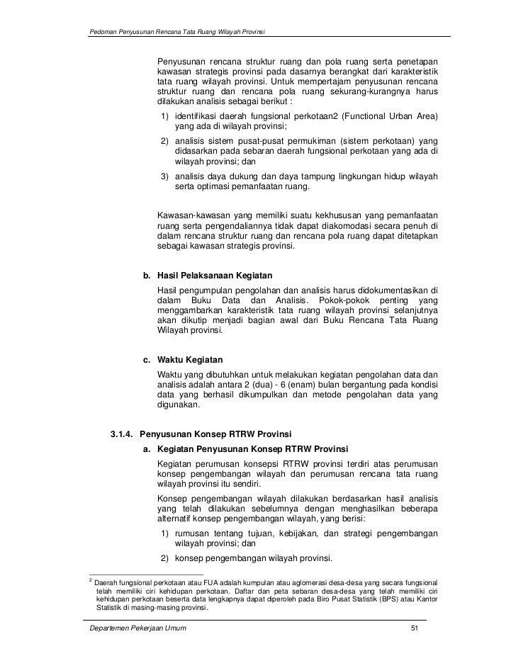 Pedoman Penyusunan Rencana Tata Ruang Wilayah (RTRW) Provinsi