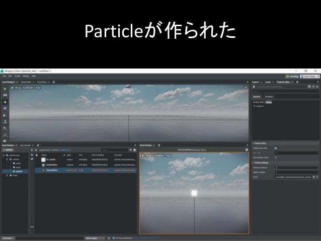 Particleが作られた