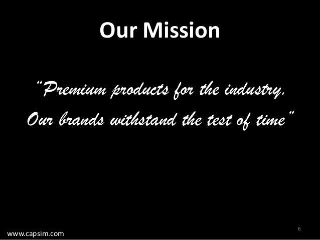 mission statement capsim Capsim professor guide  15 capstone® computer strategies - 156 ferris - niche differentiation start  vision statement.