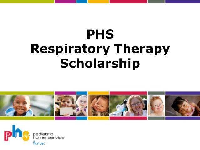 PHS Respiratory Therapy Scholarship