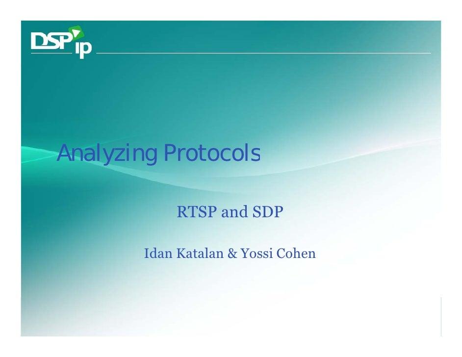 RTSP SDP Wireshark Analysis