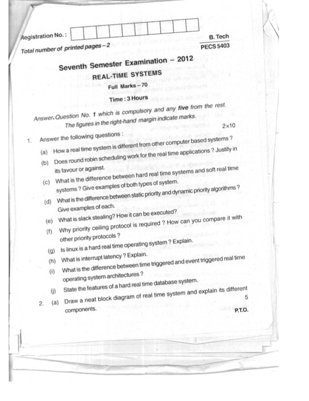 RTS Question Paper 2012