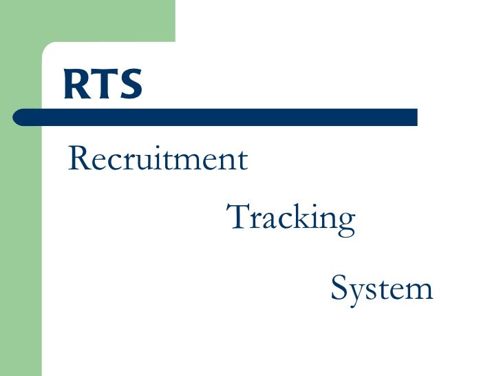 Recruitment  Tracking System RTS