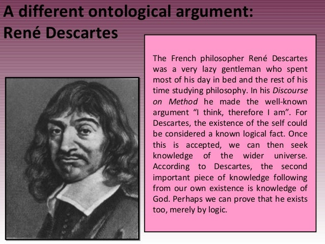 the existence of god according to descartes