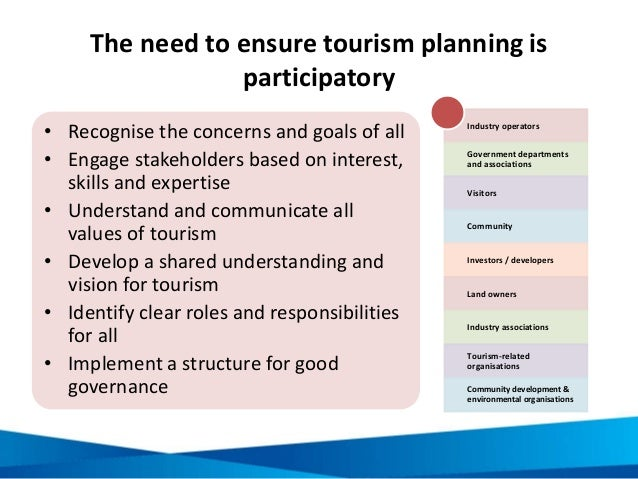 planning and policies in the tourism industry The caribbean sustainable tourism policy framework is an output of the caribbean regional  of the tourism industry has long been recognised,  in the planning .