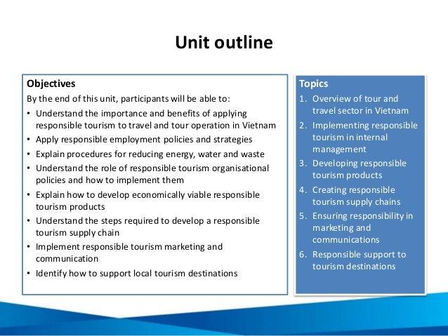 Unit 16: Responsible Tourism For Tour Operators