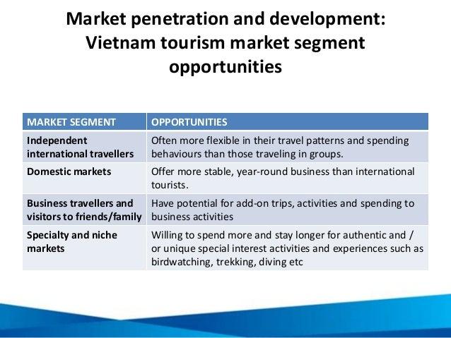 travel market segmentation The most recent analysis of the size of the youth travel market is  the global  youth travel segment to represent around 23% of all arrivals.