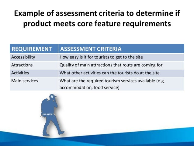 Example of assessment criteria to determine if product meets core feature requirements REQUIREMENT ASSESSMENT CRITERIA Acc...