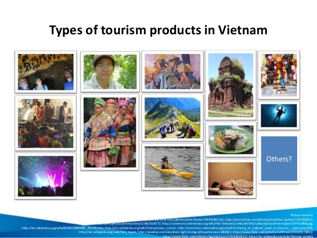 Types of tourism products in Vietnam Others? Picture sources: http://www.flickr.com/photos/barbararich/96982409/; http://w...