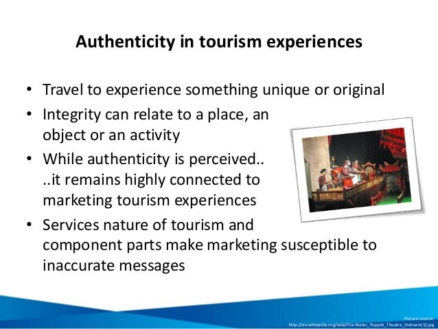 Aunthenticity in Tourism