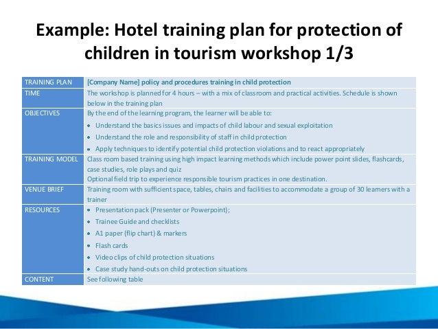 example hotel training