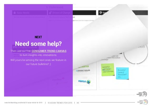 NEXT  Then use our free CONSUMER TREND CANVAS  to turn insights into innovations.  Will yours be among the next ones we fe...